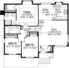 3e8ffc4939f30469a73952519f0c6786 split level house plans split level home split level house plans three bedroom split level (hwbdo67425,House Plans For Split Level Homes