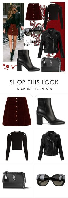 """""""Untitled #3"""" by husic ❤ liked on Polyvore featuring Gianvito Rossi, Proenza Schouler, Miss Selfridge, Yves Saint Laurent and Bottega Veneta"""