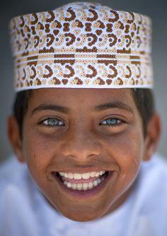 Blue eyed kid in Masirah Island , Oman by Eric Lafforgue, via Flickr