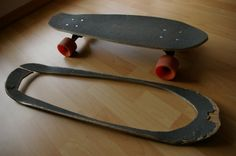 Re-cycle your skateboard- make a new one from the old one   - 19 DIY: Awesome Skateboard Crafts