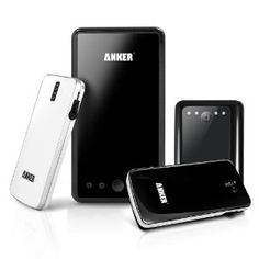 Anker® Astro Family Holiday Gift Pack 4 External Batteries for iPhone, iPad, Android Phones; 1 Astro3E Black 10000mAh + 1 Astro2 Black 8400mAh + 1 Astro Slim