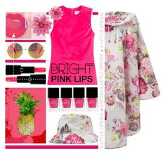 """""""Fruit+Floral."""" by s-elle ❤ liked on Polyvore featuring beauty, Oliver Gal Artist Co., dVb Victoria Beckham, Jessica Russell Flint, Nails Inc., Joules, Armani Beauty and pinklips"""