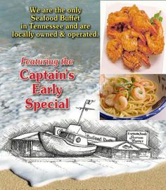 Captain Jim's Seafood Buffet. #Pigeon #Forge #Tennessee #dining