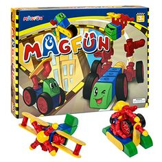 Magfun 32 Pcs 3D Magnetic Building Blocks Educational Construction Toy Set Innovative Gift for Kids >>> Visit the image link more details.