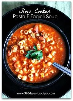 Recipe for Slow Cooker Copycat Olive Garden Pasta e Fagioli Soup