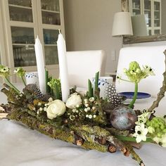 Osterdeko Today's birthday with table decorations for my husband # autumn Easter Flower Arrangements, Easter Flowers, Floral Arrangements, Easter Crafts, Crafts For Kids, Diy Crafts, Easter Decor, Christmas Wreaths, Christmas Decorations