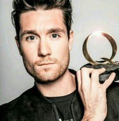 Dan Smith and his (them) Q awards 2016 for the best song Good Grief. #Bastille #music