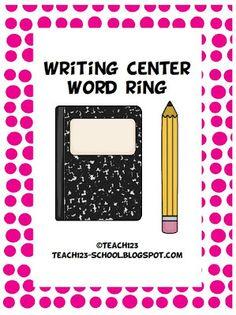 FREEBIE Writing Center Word Ring! #Free $0
