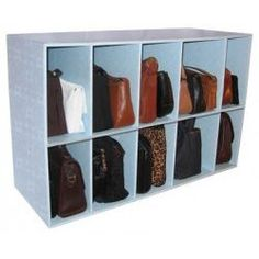 Purse Organizer Cubby   Park A Purse #closet #storage #bags Organizing