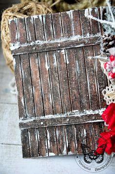 СкрапШейкер: МК по созданию деревянной текстуры от Виктории! Altered Books, Altered Art, Diy And Crafts, Paper Crafts, Mixed Media Techniques, December Daily, Wedding Album, Master Class, Ladder Decor