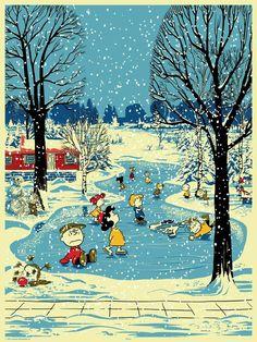 Charlie Brown Snoopy & The Peanuts Gang Christmas Scenes, Noel Christmas, Vintage Christmas Cards, Retro Christmas, Christmas Images, Winter Christmas, Christmas Sayings, Vintage Holiday, Christmas Lights