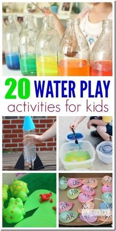 20 water play activities for kids - LOTS of creative, fun, and unique summer activities for kids using water for kids from toddler, preschool, and kindergarten to elementary age kids too!
