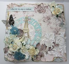 Stamping at Tiffany's: TPBP Design Team project - altered cigar box Mixed Media Boxes, Mixed Media Canvas, Decoupage Vintage, Vintage Crafts, Altered Canvas, Altered Art, Cigar Box Projects, Altered Cigar Boxes, Craft Box