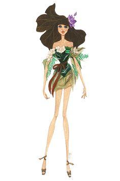 www.mijinchun.com  inspired by jean paul gaultier couture s/s '15