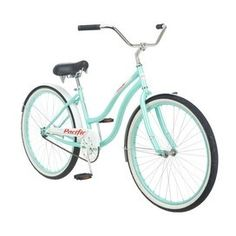 This looks exactly like the my new bicycle Jason got me. :) Oceanside Cruiser Bicycle >> I want one! Bici Retro, Retro Bike, Cruiser Bicycle, Bicycle Lights, Woman Beach, Tiffany Blue, My Love, Cool Stuff, Beautiful