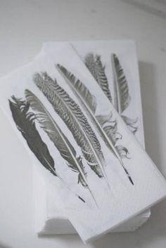 Papier servetten 4 veren - Textiel - Hees 9