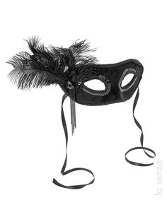 Masquerade Mask with Feather http://shop.pixiie.net/masquerade-mask-with-feather/