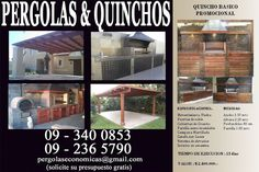 PERGOLAS Y QUINCHOS Backyard Kitchen, Outdoor Kitchen Design, Patio Design, Backyard Patio, Blessed Mother, Home Projects, Bbq, Outdoor Structures, Gardens