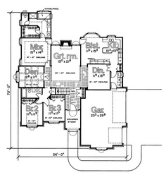 Find your dream traditional style house plan such as Plan which is a 2093 sq ft, 4 bed, 2 bath home with 3 garage stalls from Monster House Plans. Free House Plans, Small House Plans, House Floor Plans, Slab Foundation, Monster House Plans, Garage Plans, Car Garage, Built In Desk, New Home Designs