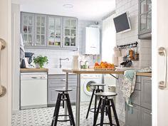Una encantadora cocina con aire retro