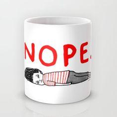 """That January Feeling"" Mug by Gemma Correll on Society6."