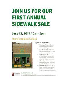 Sharp Trophy Sidewalk Sale