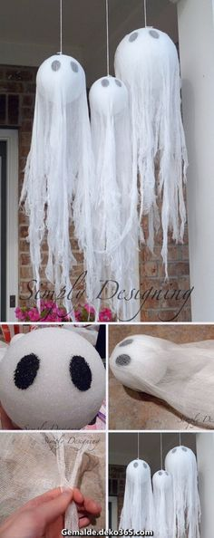 Give your home sweet home a decidedly devilish air with these easy diy halloween decorations from countryliving com. Best 50 diy halloween decorations that will decorate your home for a spooktacular time. Check out 17 super cute halloween party food . Diy Halloween Party, Soirée Halloween, Homemade Halloween Decorations, Adornos Halloween, Manualidades Halloween, Spooky Decor, Holidays Halloween, Halloween Birthday, Christmas Decorations