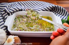 Zesty Shallots and Parsley Sauce http://www.caribbeangreenliving.com/zesty-shallots-sauce/?utm_campaign=coschedule&utm_source=pinterest&utm_medium=Caribbean%20Green%20Living&utm_content=Zesty%20Shallots%20and%20Parsley%20Sauce new recipe and video #condiment #recipes #caribbean