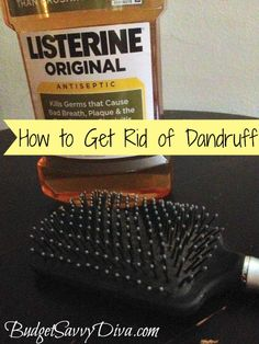 Dandruff Wet hair with generous amount of mouthwash. Wrap in a towel and leave mins, then shampoo as normal. May repeat till dandruff gone. How To Remove Dandruff, Getting Rid Of Dandruff, Homemade Beauty, Diy Beauty, Beauty Hacks, Beauty Tips, Beauty Products, Homemade Hair, Skin Products