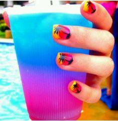 beach fashion nails