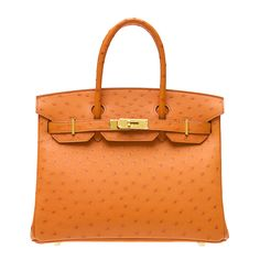 orange ostrich birkin bag