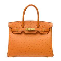 orange ostrich birkin bag