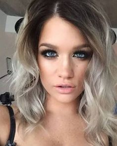Image result for dark roots blonde hair
