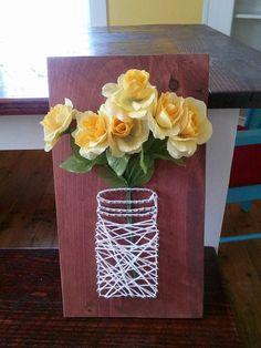 Mason Jar String Art by JoyfulSunshineCrafts on Etsy