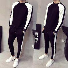 fashion Men's clothing Thin body Color matching Long sleeve hoodeds tr – myshoponline.com