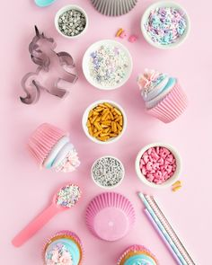 Get ready to throw a magical party with this round-up of Unicorn party ideas and unicorn party supplies! There are some fun unicorn cupcake ideas too using our unicorn candy sprinkles and other unicorn sprinkles. We love how fun these pastel colors are with this party theme. The pop of silver is the perfect addition! I Sweets & Treats #unicornsprinkles #unicornpartyideas #unicornpartysupplies #unicornparty #unicorncupcakes