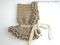 Crochet pattern cowl The Bear hood in 4 sizes from by easycrochet