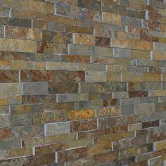 Rustic Slate Split Face Mosaic Tile - Slate Cladding - Stone ...