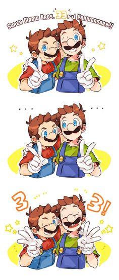 Mario Y Luigi, Super Mario And Luigi, Super Mario Games, Super Mario Art, Super Mario World, Super Mario Brothers, Mundo Super Mario, Luigi And Daisy, Mario Comics
