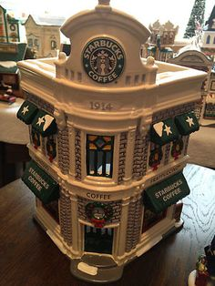 Starbucks building.  Sold in Starbucks stores a few years ago.  Do you collect these?