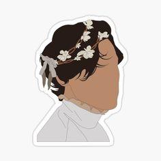 Harry Styles Dibujo, Harry Styles Drawing, One Direction Drawings, One Direction Art, Harry Styles Poster, Harry Edward Styles, Cartoon Stickers, Cute Stickers, Harry Styles Birthday