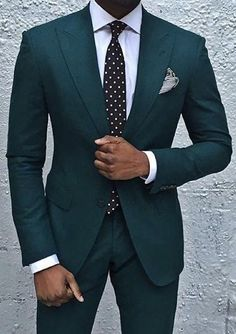 Forest green custom wedding or business suit. Forest green custom wedding or business suit. Forest green custom wedding or business suit. Mens Fashion Suits, Mens Suits, Suit For Men, Wedding Men, Wedding Suits, Green Suit Men, Green Wedding Suit, Suit Combinations, Designer Suits For Men