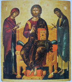 Angelos (attributed) Icon: Deisis Mediterranean, Middle of the century Roman History, Art History, Russian Icons, Byzantine Icons, Religious Icons, Albrecht Durer, Orthodox Icons, Angel Art, Renaissance Art
