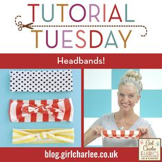 Girl Charlee Fabrics UK & Europe: Tutorial Tuesday: Headbands from leftover jersey