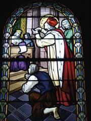 St Yves - Vitrail de l'église de Lézardrieux (22)