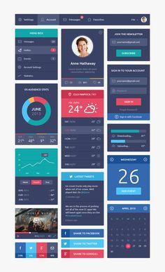 #Flat Design #UI