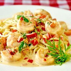 Spicy (or not spicy) Creamy Garlic Shrimp - a quick and delicious shrimp dish that you can customize to your own taste. The recipe works really well with sliced chicken breast too.
