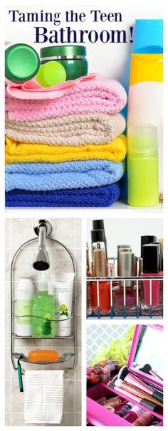 Organizing the teen bathroom