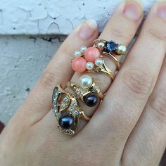 """Today's inspiration- """"From the Sea""""...  #onefingerstack #mermaidring #fergusonsfinejewelry"""