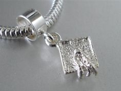 Sterling Silver 3D California Sequoia Tree Dangle Charm Bead For Bead Bracelet